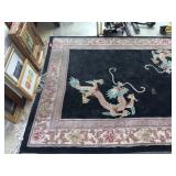 VTG CHINESE WOOL AREA RUG
