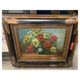 LARGE / WELL FRAMED ORIGINAL FLORAL PAINTING