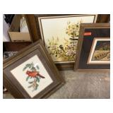 3PC FRAMED ART LOT