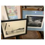 2PC FRAMED PRINTS (PEN AND INK / MORE