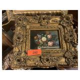 FRAMED ORIGINAL FLORAL PAINTING