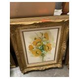 ORIGINAL FRAMED FLORAL PAINTING