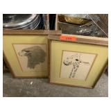 2PC SIGNED PRINTS GIRAFFE MORE CHARLES FREDERICK