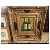FRAMED CANVAS WINE PRINT