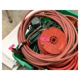 HUGE BIN OF EXTENSION CORDS / AIR HOSES MORE