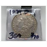 1879-O MORGAN SILVER DIME COIN
