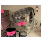 LARGE KITCHENAID MIXING BOWLS AND AATTACHMENTS