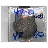 1849-O SEATED LIBERTY SILVER HALF DOLLAR COIN