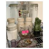 LARGE LOT OF VTG GLASSWARE AND MORE