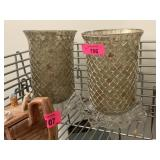 2PC MOSAIC CANDLE HURRICANES / MORE
