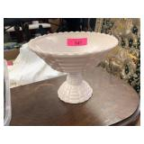 VTG JEANETTE GLASS  PINK COMPOTE