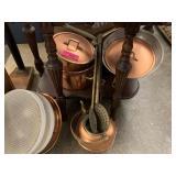 LARGE LOT OF COPPER POTS / PANS