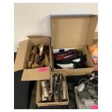 LOT OF WATCH BANDS / SHOE STRETCHERS MORE