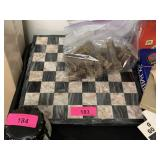 MARBLE CHESSBOARD AND PIECES