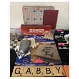 LARGE LOT OF SCRABBLE ITEMS / MORE