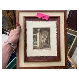 SIGNED / FRAMED ETCHING B. TUCKER SIGNED NUMBERED