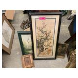LARGE LOT OF CHINESE FRAMED PRINTS MORE