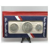 1976 BICENTENNIAL 3 COIN SILVER UNC SET