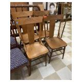 4PC ANTIQUE OAK CHAIRS
