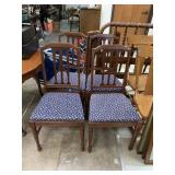 4PC VTG DINING CHAIRS