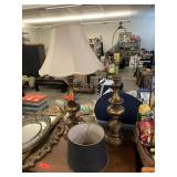 2PC BRASS LAMP LOT