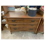 ANTIQUE WOOD 3 DRAWER DRESSER