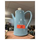 VTG USA POTTERY SKY BLUE COFFEE POT/ WATER KETTLE