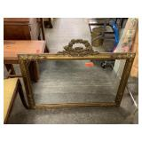 LARGE GOLD FRAMED WALL MIRROR