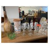 LOT OF GLASSWARE DECOR
