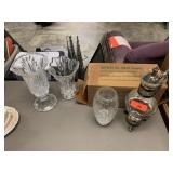 LOT OF MISC / GLASSWARE / CARAFE