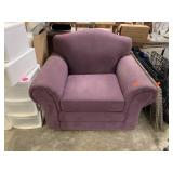 PURPLE FABRIC ARM CHAIR