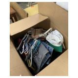 LARGE BOX OF CLOTHES