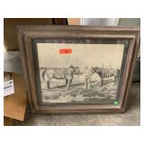 "PAUL WYLIE ""THE CONTRACT"" FRAMED WESTERN PRINT"