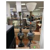 2PC VTG NEOCLASSICAL LAMPS
