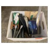 LARGE LOT OF OFFICE ITEMS / SLIDE RULES MORE