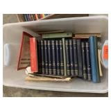 LARGE BIN OF BOOKS