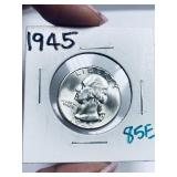 1945 WASHINGTON QUARTER HIGH GRADE