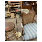 MID CENTURY SHELL FLOOR LAMP