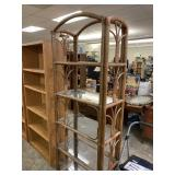 RATTAN ARCHED VTG SHELF UNIT
