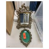 2PC BRASS MIRROR/ FRAME