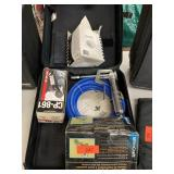 ZIPPERED BAG W MISC TOOLS / AIR GREASE GUN MORE