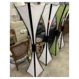 2PC WHITE ASIAN FLOOR LAMPS