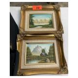 2PC PAINTING LOT IN GOLD FRAMES