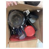 LARGE BOX OF POTS AND PANS