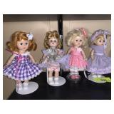 4PC LOT OF VTG GINNY DOLLS