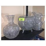 LOT OF CUT GLASS / CRYSTAL / AMERICAN BRILLIANT