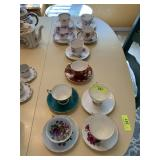 LOT OF MISC CHINA CUPS AND SAUCERS