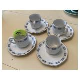 5PC WEIMAR GERMAN CUP SAUCER SET (ADDED ONE)