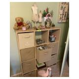 CUBICLE UNIT W CONTENTS / LOTS OF CRAFTS & DECOR