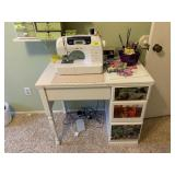 BROTHER SEWING MACHINE W CABINET & MORE